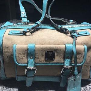 Patent Leather MCM Jacquard Tote Bag